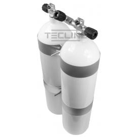 Zestaw 2 x 12L Eurocylinder z płaskim dnem